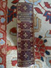 éléments histoire romaine avec cartes Magnifique reliure maroquin 1766  Italie