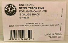 Lionel 6-49831 One Dozen Steel Track Pins for American Flyer S Gauge Track New!