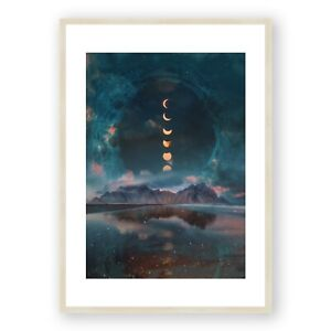 Moon Art , Photography Wall Art , Moon Picture , Surreal Living Room Decor