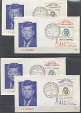 CONGO BELGE FDC 61-61c - J K KENNEDY - 1966 LUXE