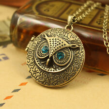 Hot Retro Owl Pendant Necklace Charm Cabochon Sweater Glod Plated Jewelry BYCX67