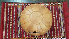 Moroccan Pouf Leather pouf Ottoman pouf, Free express delivery.