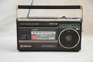 VTG 80s NATIONAL RX-1822W FM, MW, SW 3 BAND RADIO CASSETTE RECORDER MINI BOOMBOX