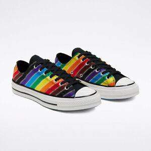Converse Mens Chuck 70 Ox Pride 167756C White/Black/Dark Roast Multi Sizes NWB