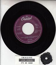 """JOHN LENNON  Imagine BEATLES 7"""" 45 rpm vinyl record NEW + juke box title strip"""