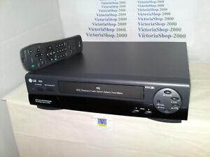 LG VHS VCR N23I Video Recorder -OSD-NTSC PB-Auto Head Cleaning- Icon MENU- LP/SP
