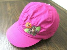 Girl's The Childrens Place Hat with flowers Color Pink Size 7-8.