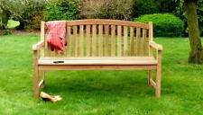 3 Seater Wooden Teak Garden Bench Quality Solid Wood Outdoor Patio 150cm 5Ft