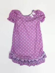 Laura Dare Toddler Girls Purple Uptown Girl Short Puff Sleeve Nightgown 2T