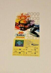 2000 FIESTA BOWL FULL TICKET 1/2 RARE TENNESSEE VOLS VS NEBRASKA CORNHUSKERS RAR