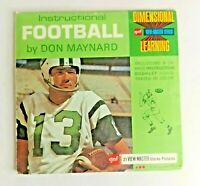 1970 Instructional Football Don Maynard Vintage View-Master 21 Pictures 3 Reels