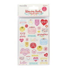 Dovecraft 'Blooming Lovely' Sentiment Stickers 2 Sheets