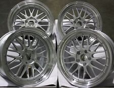 """ALLOY WHEELS X 4 19"""" SILVER STAGGERED DARE RT FOR VW T5 T6 T28 T30 T32 AMAROK"""
