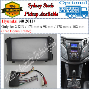 Harness + Fascia facia Fits Hyundai i40 i-40 2011+ Double Two 2 DIN Dash Kit