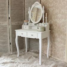 Tavolo da toeletta in legno bianco serie Specchio Shabby Chic Francese Vintage ragazze camera da letto