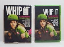 Whip It (DVD, 2010) ~ w/Velcro Flap Slip Cover