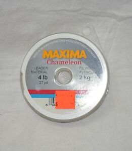 Maxima chameleon leader material 4 lbs (27 yards )  (store#bte16)