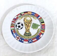 ORIG.PORCELAINE PLATE WORLD CUP SPAIN 1982 - ALL PARTICIPANT TEAM`S !! RARE #A52