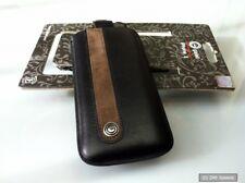 Galeli G-IP 5 eleg - 02 flip-out, cuero, funda protectora para Apple iPhone 5 negro-marrón, nuevo