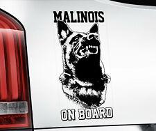Belgian Malinois Sticker, Dog Window Decal Car Stickers Gift Bumper Sign -V03BLK