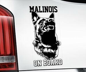 Belge Malinois Autocollant,Chien Fenêtre Décalque Voiture Autocollants Cadeau