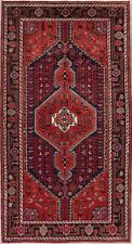 Tribal Geometric Hamadan Oriental Area Rug Wool Hand-Knotted Nomad Carpet 5'x9'