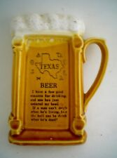 Cool Vintage Texas Beer Ashtray Shaped like a Mug