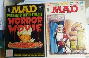 MAD Magazine 2 Comics No.236 & 237 December Christmas 1981 & Jan 1982