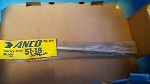 "Anco Ten-Edge 18"" Heavy Duty Stainless Steel Flat Wiper Blade Made in USA 51-18"