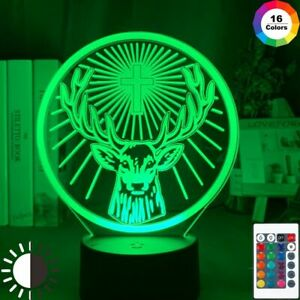 LED Night Light Jagermeister Figure For Kid Bedroom Decors Acrylic Table 3D Lamp