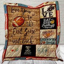 Football Quilt Blanket, Football Player Gifts, Sport Lover Quilt Blanket