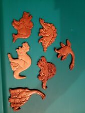 Lot 6 Dinosaurs wooden T Rex Triceratops Magnet Fridge Combined Shipping