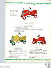 1934 PAPER AD COLOR Ace Essex Fire Chief Auto Steelcraft Murray Pedal Car