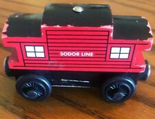2003 Thomas & Friends Wooden Railway Red Sodor Line Caboose