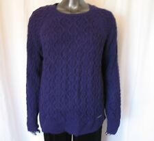 NWT MICHAEL KORS NOVELTY CABLE SWEATER DARK IRIS COLOR SIZE XL