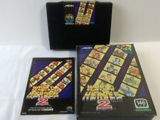 WORLD HEROES 2 SNK NEO GEO AES Cartridge Manual,Boxed set tested-C-