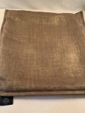 "Ralph Lauren Couch Pillow Cover Jute Metallic Brown Gold 20.5"" Sq Euc One"