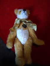 "Vintage Mohair Knickerbocker Bear Jointed arms 10.5"" with metal tag"