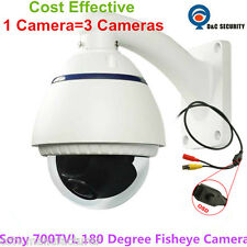 Sony 700TVL 180 degree analog Water-proof fisheye wide angle cctv camera outdoor