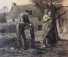 Jean François MILLET (1814-1875) Le greffeur 1881 école de Barbizon Salomon 1890