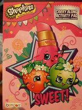 Shopkins Carry Along Activity Pad W/Crayons & Stickers color arts & craft