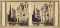 Château Da Chenonceau Foto Bridel Figlio A Bléré Stereo Vintage Albumina Ca 1860