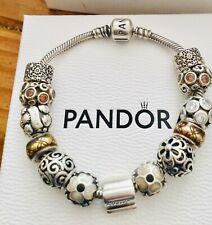 Genuine Pandora Charm Bracelet with 13 Pandora Charms + Box 18 cm
