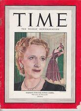 Time Magazine 1947 SEPT 15 FASH. DESIGNER SOPHIE GIMBEL,