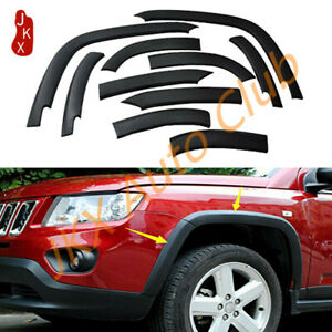 For Jeep Compass 2011-15 Front & Rear Fender Flares Cover Frame o Protector Trim
