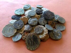VARIETY OF OLD COINS MIXED AGES LOT X60 PCS