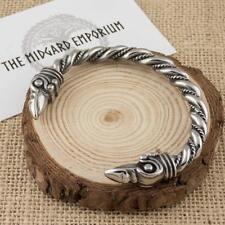 Viking Raven Bracelet Stainless Steel Arm Ring Norse Mens Jewellery