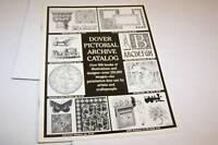 Vintage DOVER Pictorial Archive catalog