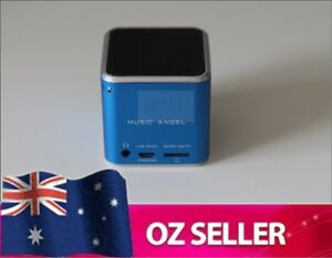 Wireless Bluetooth portable speaker iphone ipod Samsung HTC Micro SD - BLUE