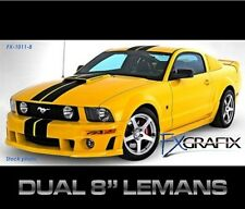 "2010 - 2012 Ford Mustang Dual 8"" Lemans Style Stripe Kit Quality Stripes"